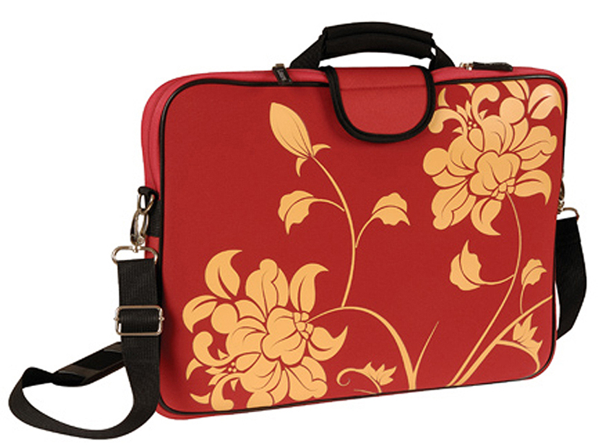 "15.6"" Screen Size Laptop Sleeve, w/Handle & shoulder Strap, Red"