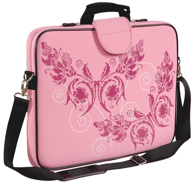 "17"" Screen Size Laptop Sleeve w/Handle & shoulder Strap Pink"